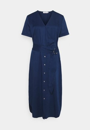 TENCEL SSWRAP MIDI DRESS - Sukienka letnia - blue jean