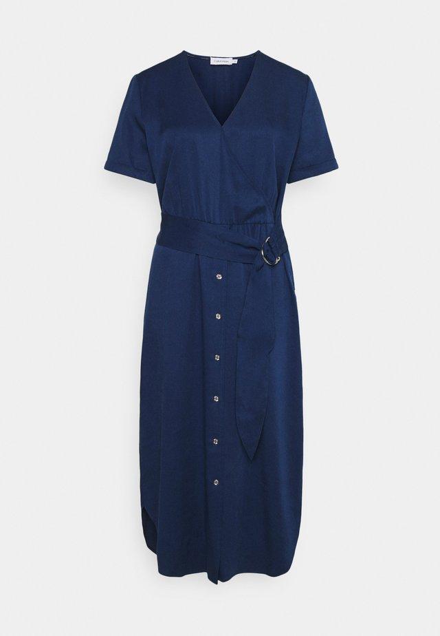TENCEL SSWRAP MIDI DRESS - Day dress - blue jean