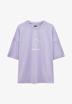 MIT NARUTO-MOTIV - Print T-shirt - mauve