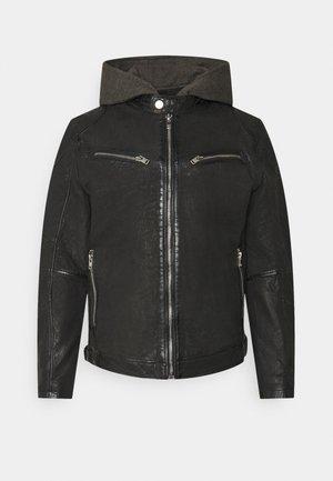RICO  - Kožená bunda - black