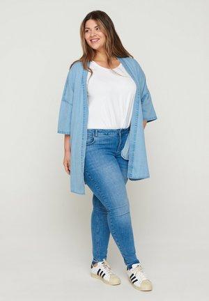 Short coat - light blue denim