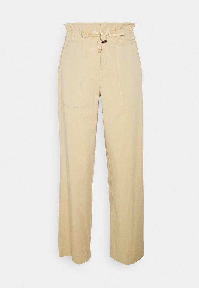 Spodnie materiałowe - sand