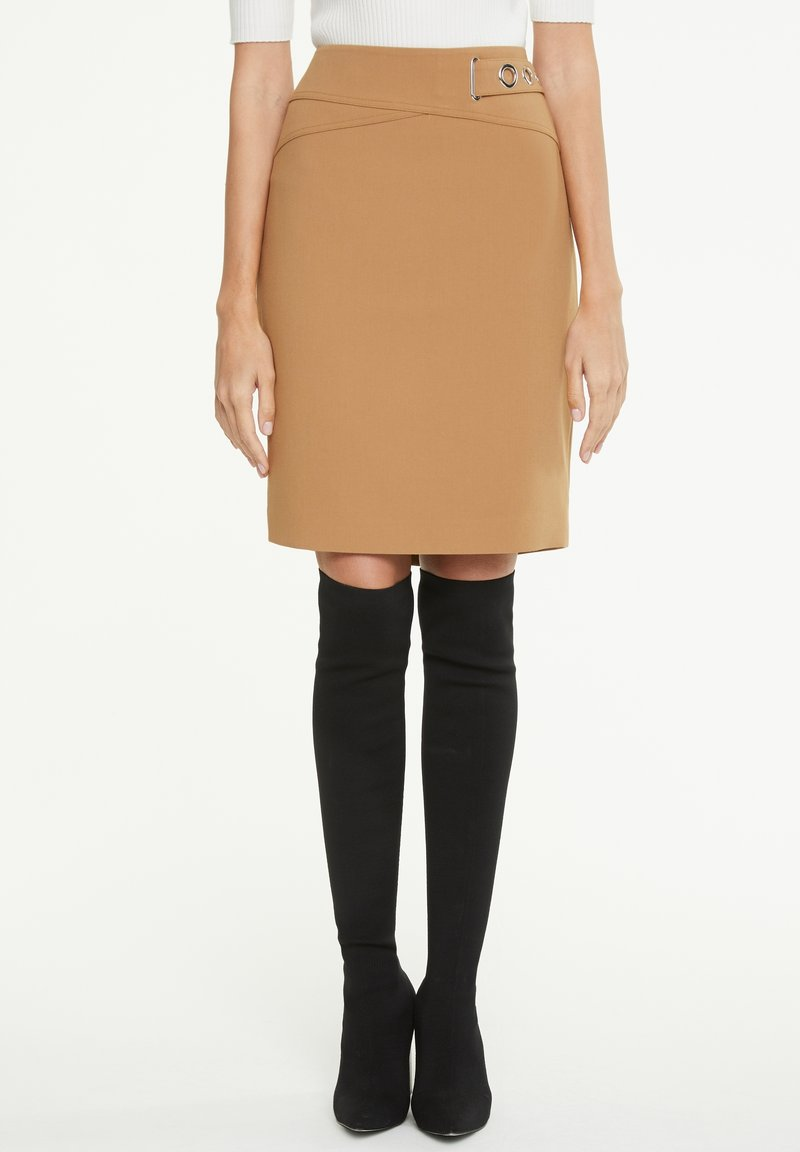 comma - Pencil skirt - camel