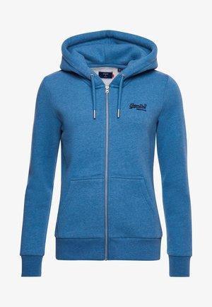 ORANGE LABEL - Sweat à capuche zippé - blue bottle marl