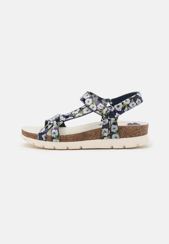 SALLY GARDEN - Platform sandals - navy