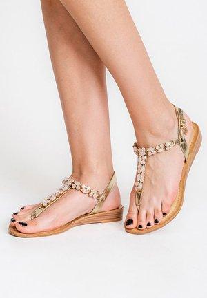 SELVA - Sandalias de dedo - gold