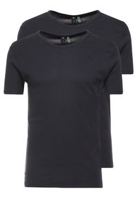 G-Star - BASE 2 PACK R T S/S - Basic T-shirt - pedal grey - 0