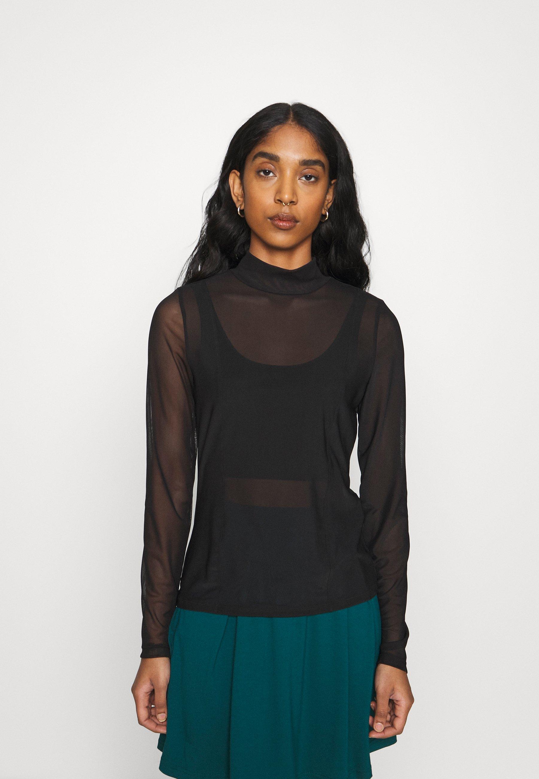 Femme NMLESLY HIGH NECK - T-shirt à manches longues