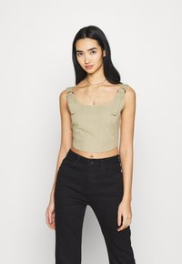 Missguided - RING SEAMED CORSET - Top - beige - 0