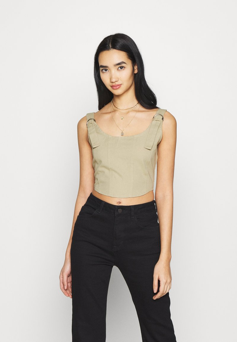 Missguided - RING SEAMED CORSET - Top - beige