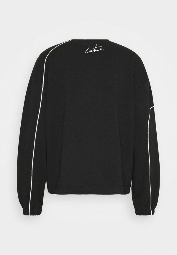 The Couture Club LABEL DETAIL CREW NECK - Bluza - black/czarny Odzież Męska GAKW