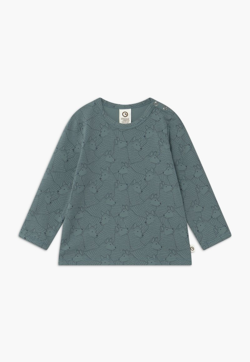 Müsli by GREEN COTTON - WOLF BABY - Longsleeve - lagoon green
