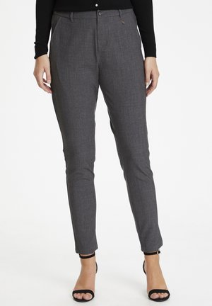 Trousers - grey melange