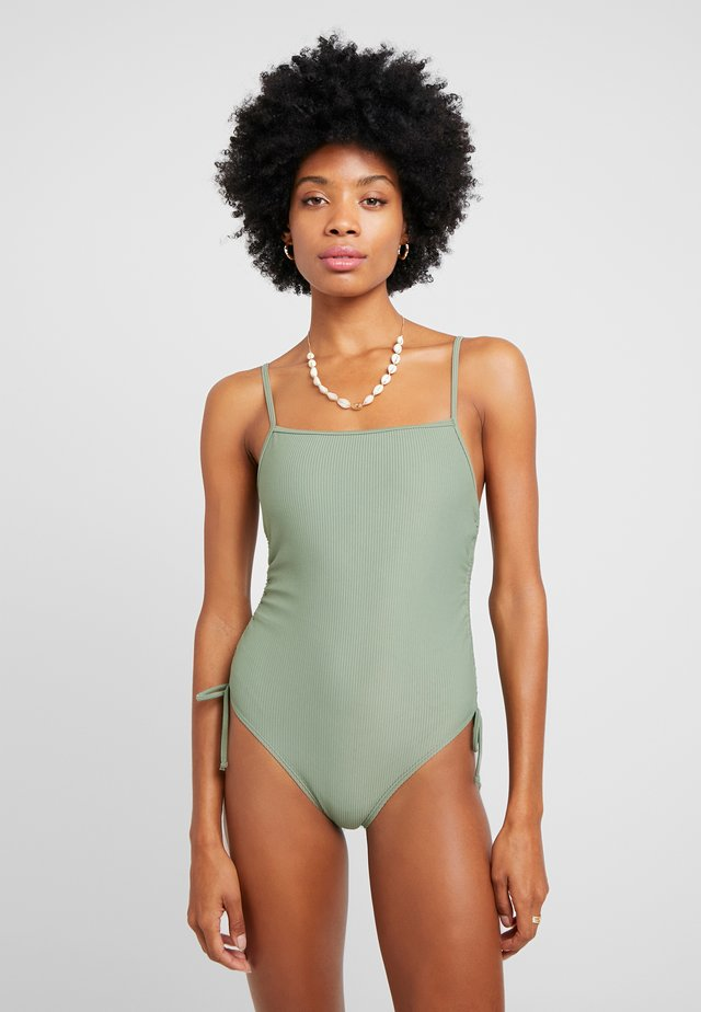 STRAIGHT NECK GATHERED ONE PIECE FULL - Costume da bagno - cool avocado