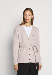 Bally - BELTED CARDIGAN - Kardigan - caillou - 0