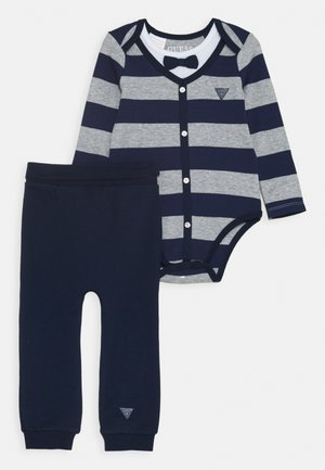 PANTS SET - Trousers - blue/grey