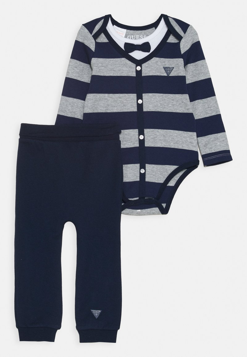 Guess - PANTS SET - Kalhoty - blue/grey