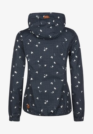 RAGWEAR REGENJACKE DAROW PRINT W - Outdoor jacket - navy
