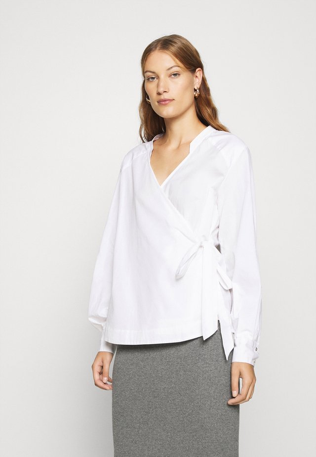 STRAP WRAP AROUND - Blouse - white