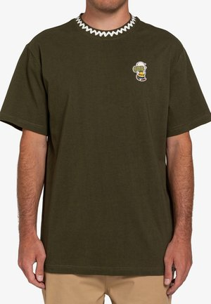 PEANUTS PATCHES  - Print T-shirt - army
