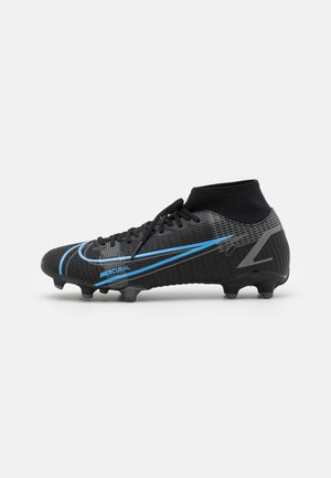 MERCURIAL 8 ACADEMY FG/MG - Moulded stud football boots - black/iron grey
