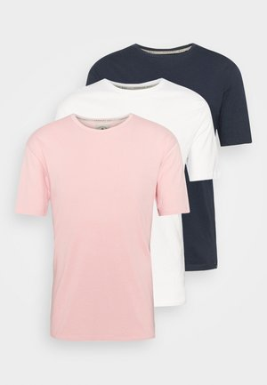 CORE 3 PACK - Basic T-shirt - navy/white/light pink