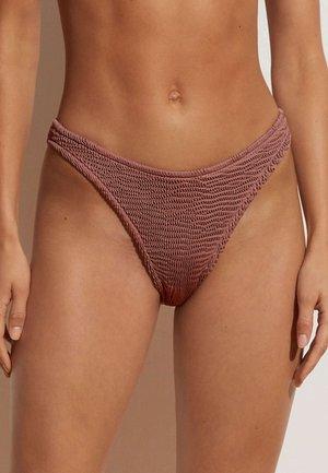 CRINKLED SEAMLESS BRAZILIAN  - Bikini bottoms - brown