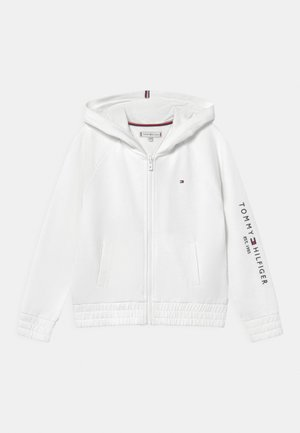 ESSENTIAL ZIP THROUGH HOODIE - Mikina na zip - white