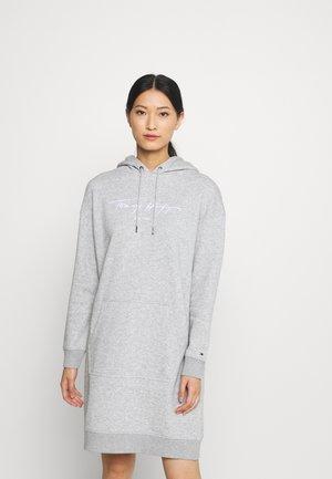 SCRIPT HOODIE DRESS - Kjole - light grey heather