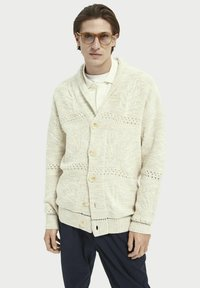 Scotch & Soda - JACQUARD  - Cardigan - sand melange - 0