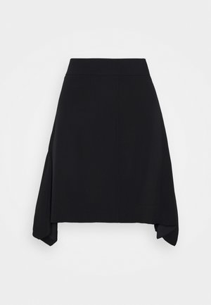 FLOUNCE HEM SKIRT - A-Linien-Rock - black