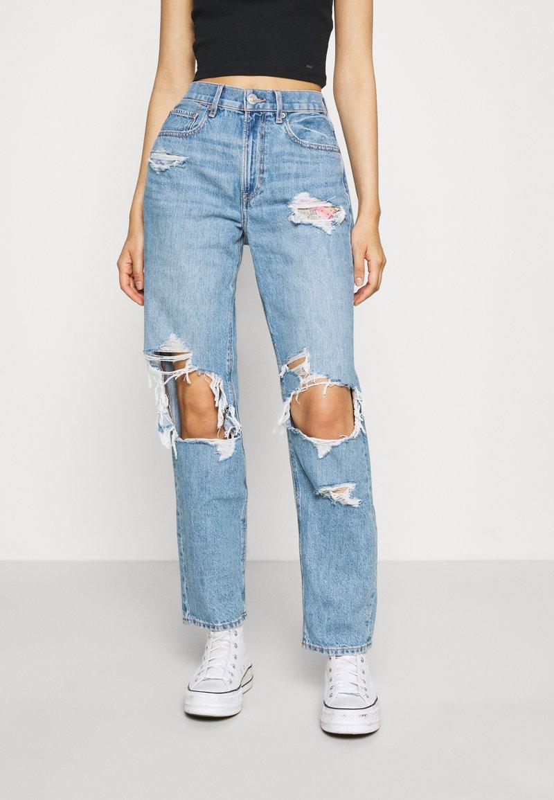 American Eagle - MOM PRIDE - Straight leg jeans - sapphire mist