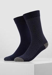 Pier One - 5 PACK - Calcetines - dark blue/mottled grey