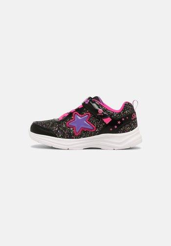GLIMMER KICKS - Sneaker low - black/hot pink
