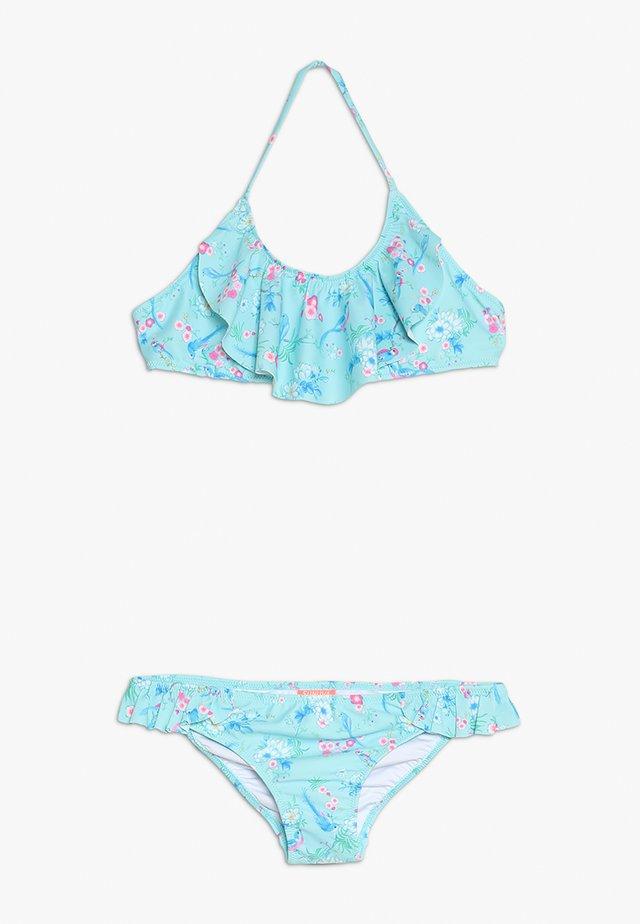 GIRLS HALTER FRILL - Bikini - aqua