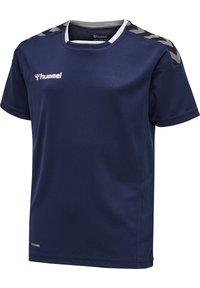 Hummel - HMLAUTHENTIC KIDS POLY JERSEY S/S - Print T-shirt - marine - 0