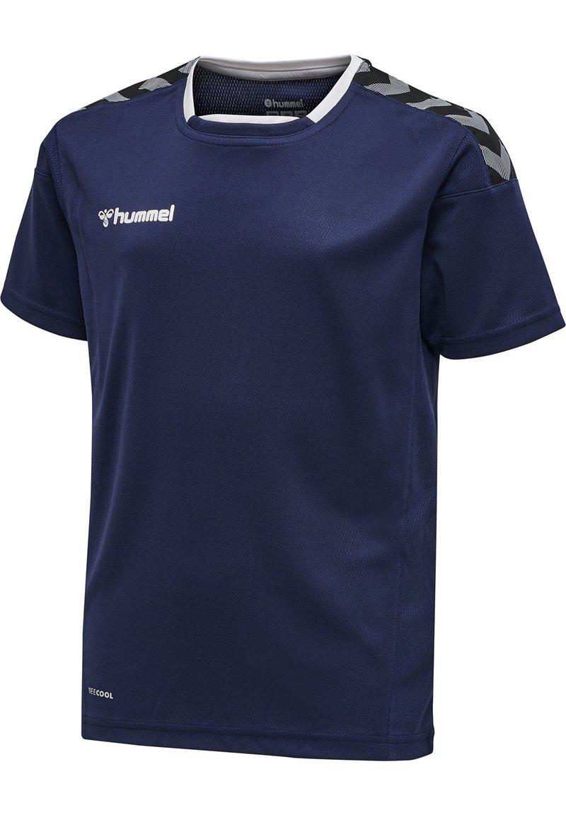 Hummel - HMLAUTHENTIC KIDS POLY JERSEY S/S - Print T-shirt - marine