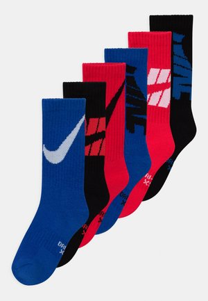 CREW 6 PACK UNISEX - Socks - red/blue/black