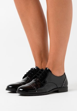 LEATHER - Derbies - black