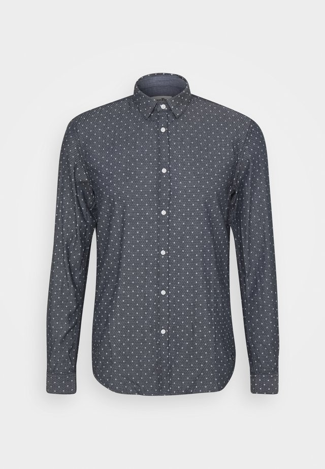 HIDDEN BUTTON DOWN - Camisa - navy