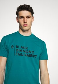 Black Diamond - STACKED LOGO TEE - T-shirts med print - teal - 3