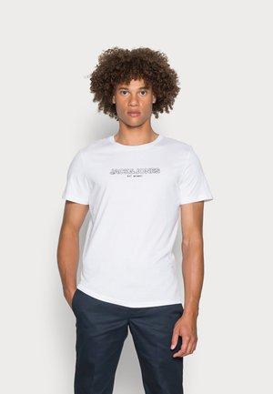 JJBANK TEE CREW NECK - T-shirt con stampa - white