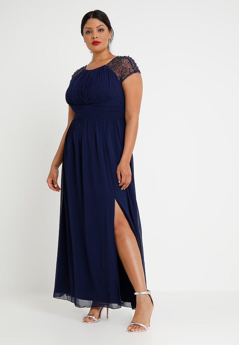 Little Mistress Curvy - CAP SLEEVES BALL GOWN - Robe de cocktail - navy
