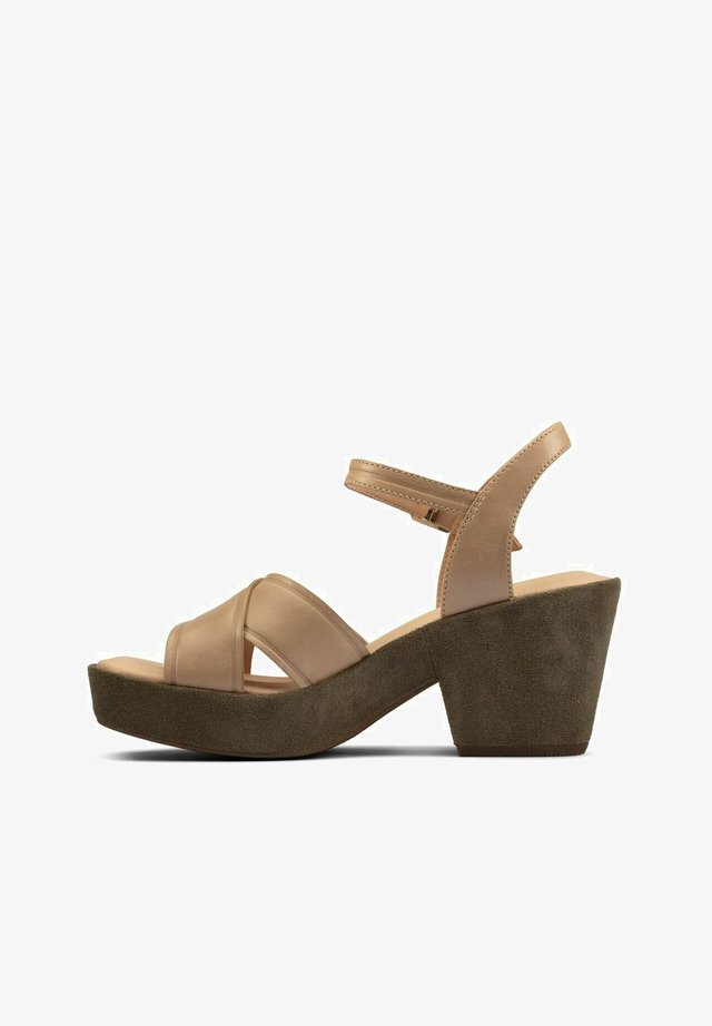 Sandalias con plataforma - taupe leather