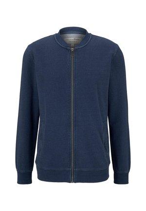 STRICK & SWEATSHIRTS INDIGO BOMBER-SWEATJACKE - Vest - used mid stone blue denim