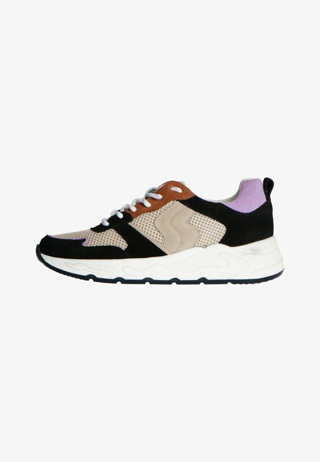 MIT FARBIGEN DETAILS - Sneakers laag - schwarz