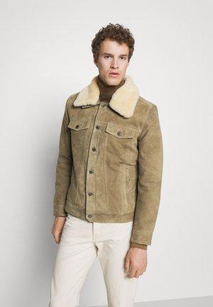 MINTER REMOVABLE COLLAR - Leather jacket - yemen