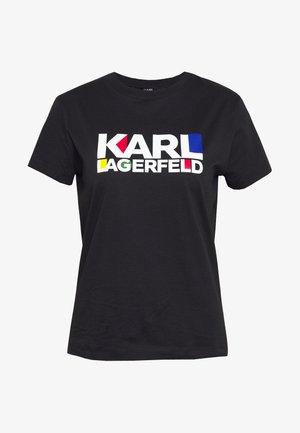 BAUHAUS STACKED LOGO - Print T-shirt - black