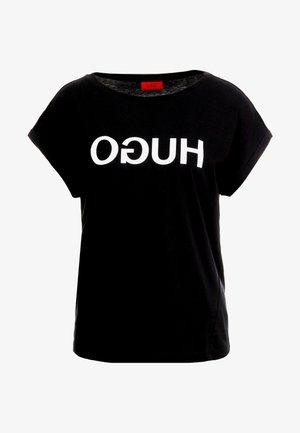 DENNALIS - Print T-shirt - black