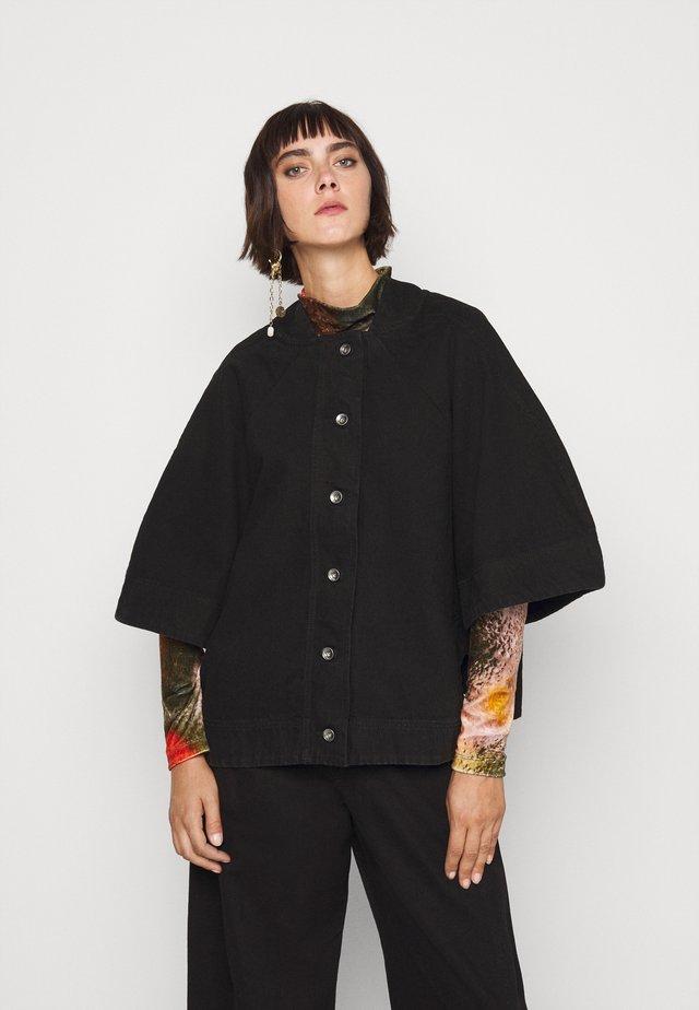 SPONGE JACKET  - Džínová bunda - black